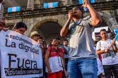 Protestations politiques, Antigua, Guatemala images libres de droits