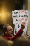 Protestatore del Wisconsin Fotografie Stock Libere da Diritti