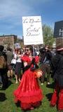 Protestatore di raduno del partito di tè sul terreno comunale di Boston Fotografie Stock Libere da Diritti