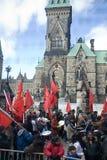 Protestatori del Tamil alla collina del Parlamento, Ottawa Fotografia Stock