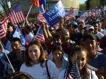 Protestatori del viale Immagine Stock