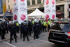 Protestators en Montreal Fotos de archivo libres de regalías