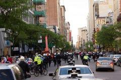 Protestators en Montreal Foto de archivo libre de regalías
