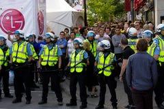 Protestators en Montreal Fotos de archivo