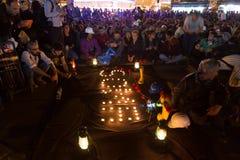 Proteste über Somabergwerkunfall Lizenzfreies Stockbild