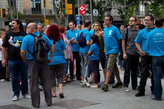 Proteste 19. Juni-Barcelona Lizenzfreies Stockfoto