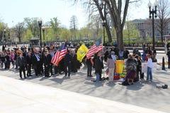 Proteste alla Corte suprema degli Stati Uniti Immagine Stock