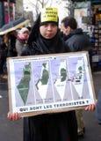 Proteste Anti-Israeliane a Parigi immagini stock