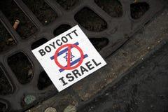 Proteste Anti-Israeliane a Parigi immagini stock libere da diritti