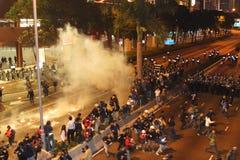 Proteste Anti-WTO in Hong Kong Stockfotos