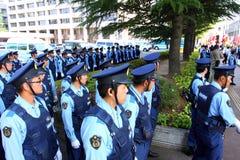 Proteste antinucleari nel Giappone Fotografia Stock Libera da Diritti