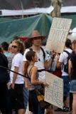 Proteste Barcelona-19J Stockfoto