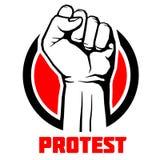 Proteste, cartel rebelde del arte de la revolución del vector, fondo ilustración del vector