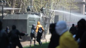 Proteste in Chile stock video footage