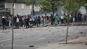 Proteste in Chile stock video