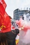 Proteste contra la fusión de la región de Alsacia con Lorena y Champa Imagen de archivo libre de regalías