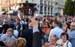Proteste contro il governo in Polonia Fotografia Stock