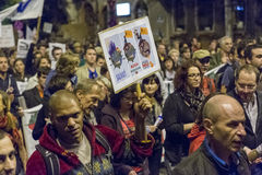 Proteste contro l'estrazione dell'oro del cianuro a Rosia Montana Immagini Stock