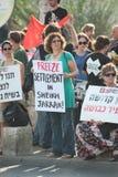Proteste de encontro aos estabelecimentos de Jerusalem do leste fotografia de stock
