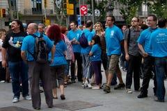 Proteste del 19 giugno Barcellona Fotografia Stock Libera da Diritti