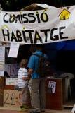 Proteste del 19 giugno Barcellona Immagine Stock