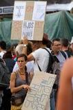 Proteste del 19 giugno Barcellona Fotografia Stock