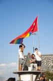 Proteste del parco di Gezi a Costantinopoli Immagine Stock Libera da Diritti