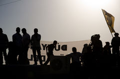 Proteste del parco di Gezi a Costantinopoli Fotografie Stock Libere da Diritti
