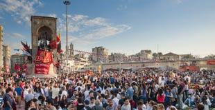 Proteste del parco di Gezi a Costantinopoli Fotografia Stock Libera da Diritti