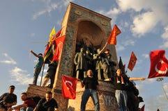 Proteste del parco di Gezi a Costantinopoli Immagini Stock