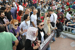 Proteste del parco di Gezi a Costantinopoli fotografia stock