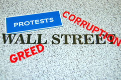 Proteste del Wall Street Immagine Stock