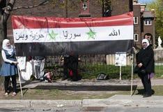Proteste della Siria Fotografie Stock
