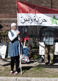 Proteste della Siria Fotografie Stock Libere da Diritti