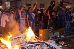 Proteste in der Türkei Stockbild