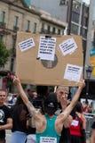 Proteste di Barcellona Immagine Stock
