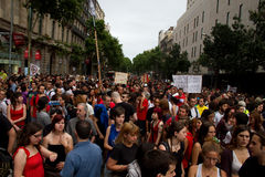 Proteste di Barcellona Immagini Stock