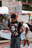 Proteste di Barcellona 19J Immagini Stock Libere da Diritti