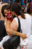 Proteste di Barcellona 19J Fotografie Stock Libere da Diritti