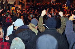 Proteste di Bucarest - 19 gennaio 2012 - 5 Fotografie Stock