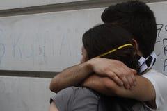 Proteste di Costantinopoli Taksim Immagine Stock Libera da Diritti