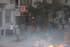 Proteste di Costantinopoli Taksim Fotografie Stock