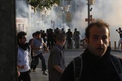 Proteste di Costantinopoli Taksim Immagini Stock Libere da Diritti