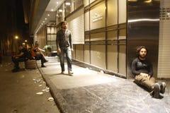 Proteste di Costantinopoli Taksim Immagini Stock