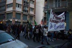 Proteste di YPJ Immagini Stock