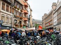 Proteste in Francia contro le riforme di Macron Fotografia Stock Libera da Diritti