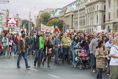 Proteste gegen Cyanidgoldextraktion bei Rosia Montana Lizenzfreie Stockbilder