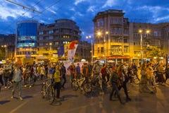 Proteste gegen Cyanidgoldextraktion bei Rosia Montana Lizenzfreie Stockfotografie
