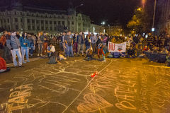 Proteste gegen Cyanidgoldextraktion bei Rosia Montana Lizenzfreies Stockbild