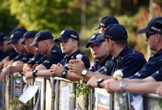 Proteste gegen Regierung in Polen Stockbilder